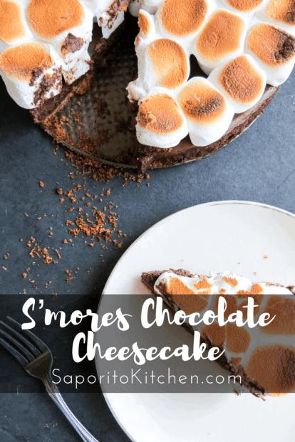 S'mores Chocolate Cheesecake | Saporito Kitchen