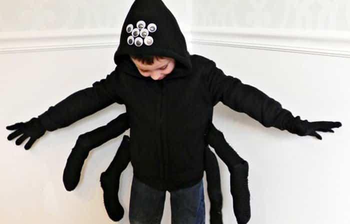 Disfraz casero de araña