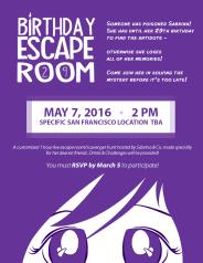 Birthday Escape Room Flier v2