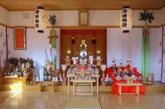 清田稲荷神社 本殿の中