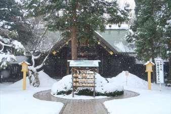 琴似神社 本殿 冬