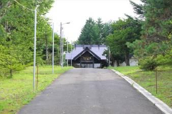 下野幌八幡神社 参道の坂道