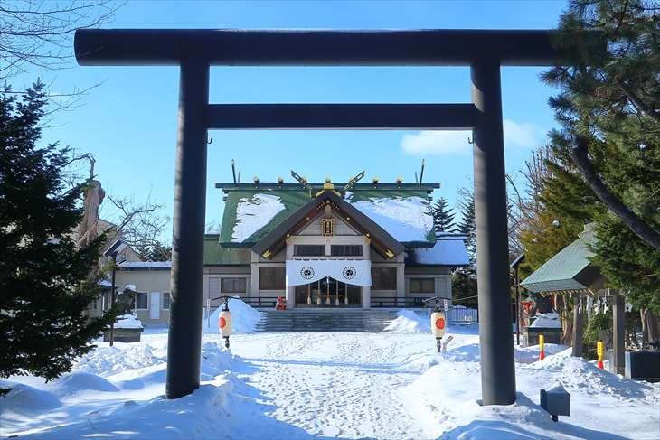 篠路神社 第2鳥居 冬