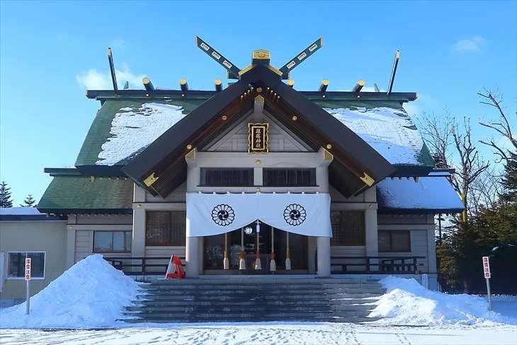 篠路神社 本殿 冬