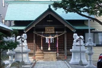 札幌水天宮 本殿と狛犬様