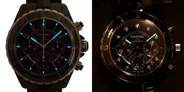 CHANEL J12 Chronograph H0940 + H2419 夜光