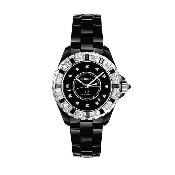 CHANEL J12 ブラック ダイヤベゼル 12Pダイヤ 33mm H2022