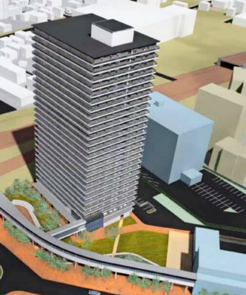 苗穂駅北口再開発-タワーマンション、病院、サ高住、道路拡幅も