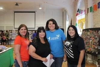 Teachers at New Frontiers Charter School enjoying the art and festivities!