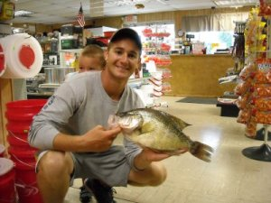 Jeremiah Mefford caught the new lake record crappie at Okmulgee Lake on August 3. It weighed 2.9 pounds and was 17.5 inches long. For more information go to wildlifedepartment.com