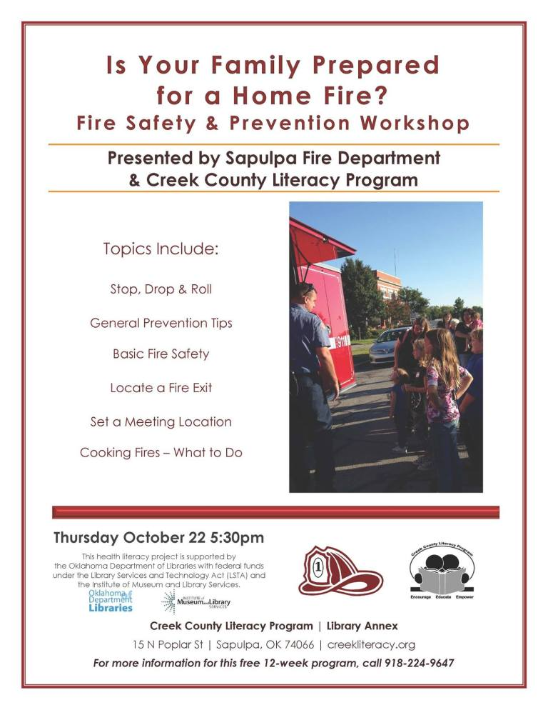 Free Fire Safety and Prevention Workshop
