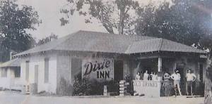 The Dixie Inn Cafe during it's heyday in the 1930s