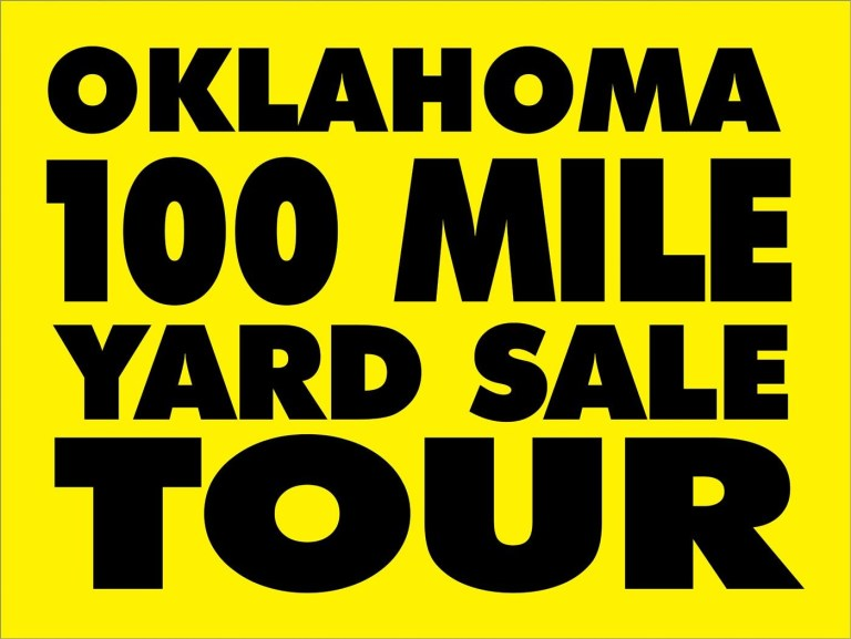 Oklahoma 100-mile Yard Sale Tour is going on now, Saturday