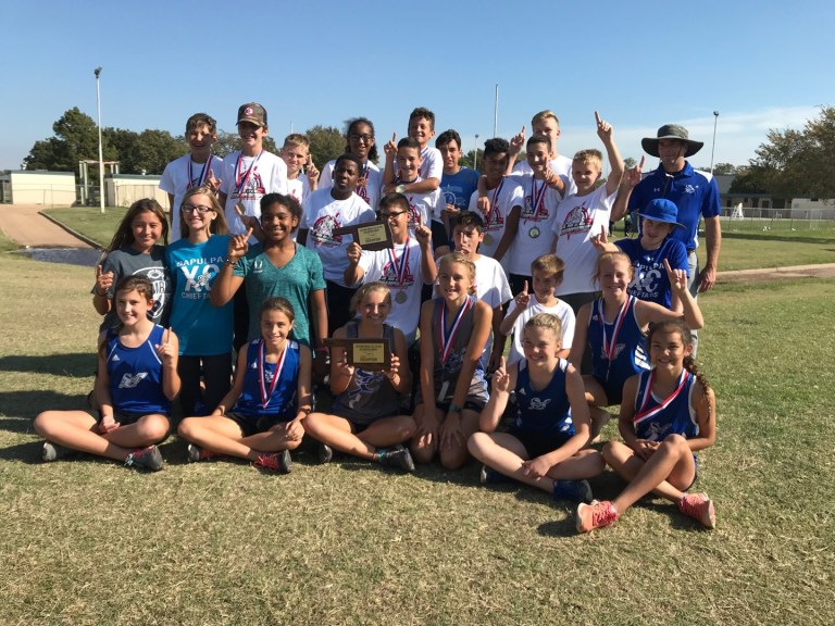 Sapulpa Junior High Cross Country Sweeps the All Star Championship