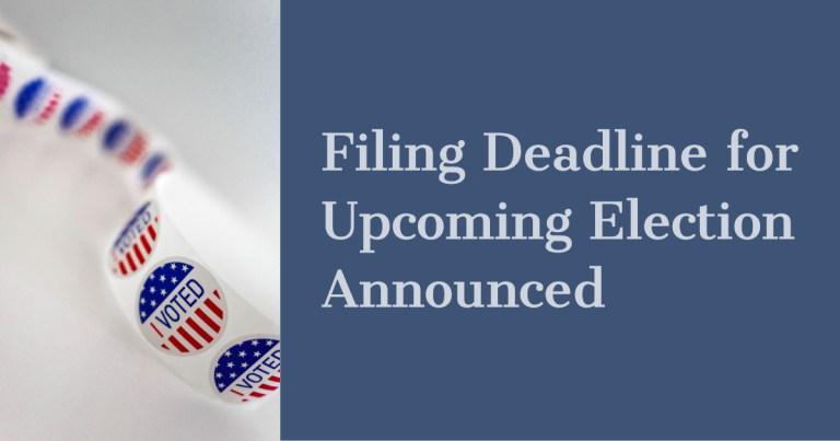 Filing deadline for upcoming election is today.