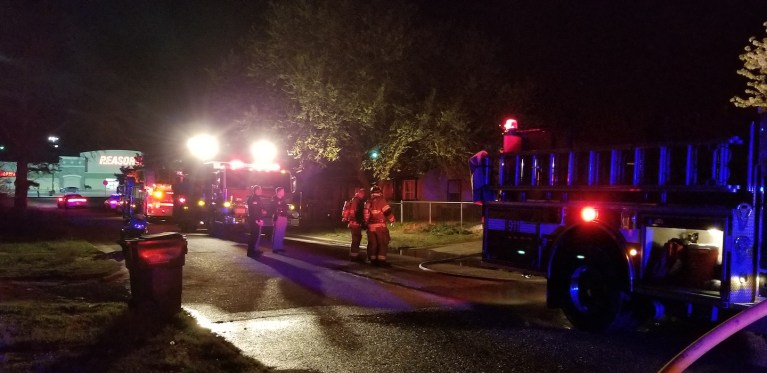The house from the Sapulpa stand-off on Saturday caught fire last night
