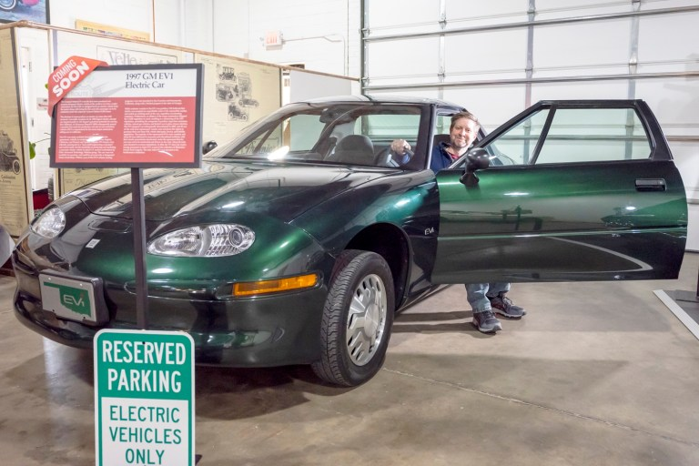 New EV-1 Electric Vehicle on loan to Heart of Rt. 66 Auto Museum