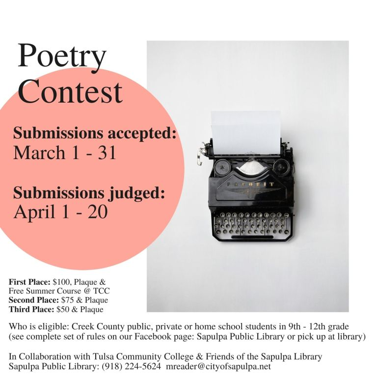 Poetry Contest, movie night, and more happening at the Library this month
