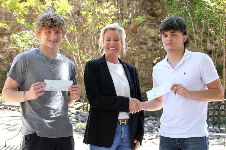 First Community Good Samaritan Award given to four teenagers who saved elderly neighbor from fire