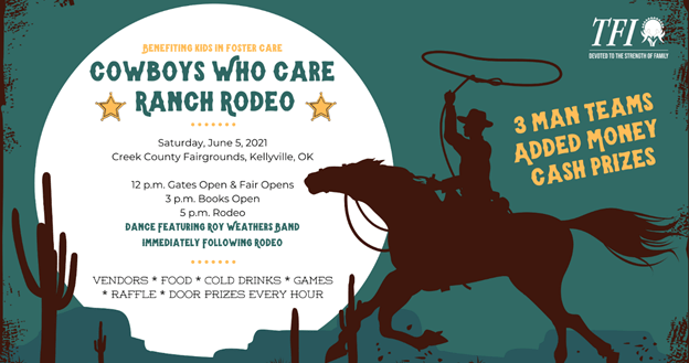 Cowboys Who Care Ranch Rodeo Fundraiser coming to Creek County Fairgrounds on Saturday, June 5th