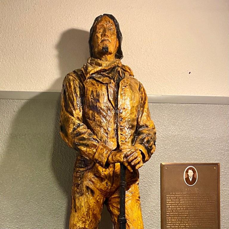 Chief Sapulpa statue gets a new home