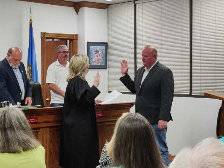 Whitehouse sworn in as Creek County District No. 3 Commissioner; burn ban under consideration