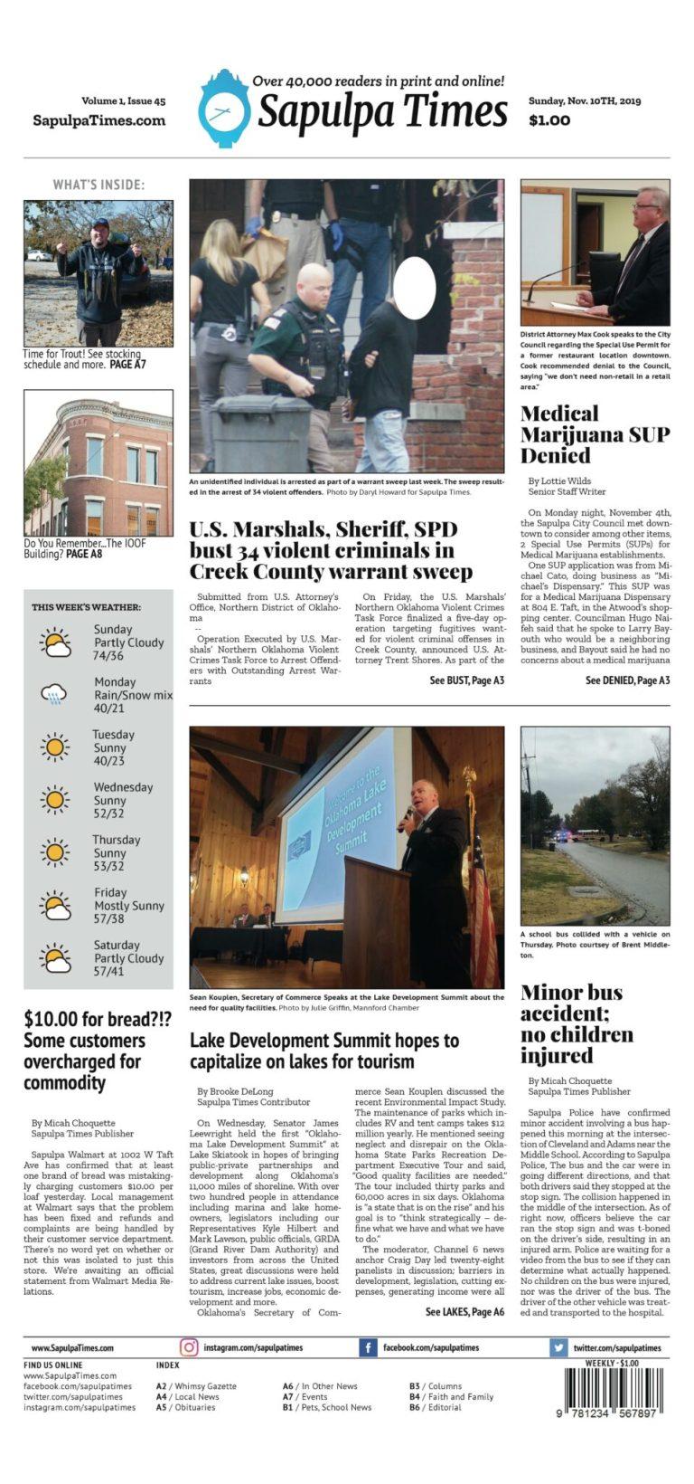 Sapulpa Times Digital Edition 11/10/2019