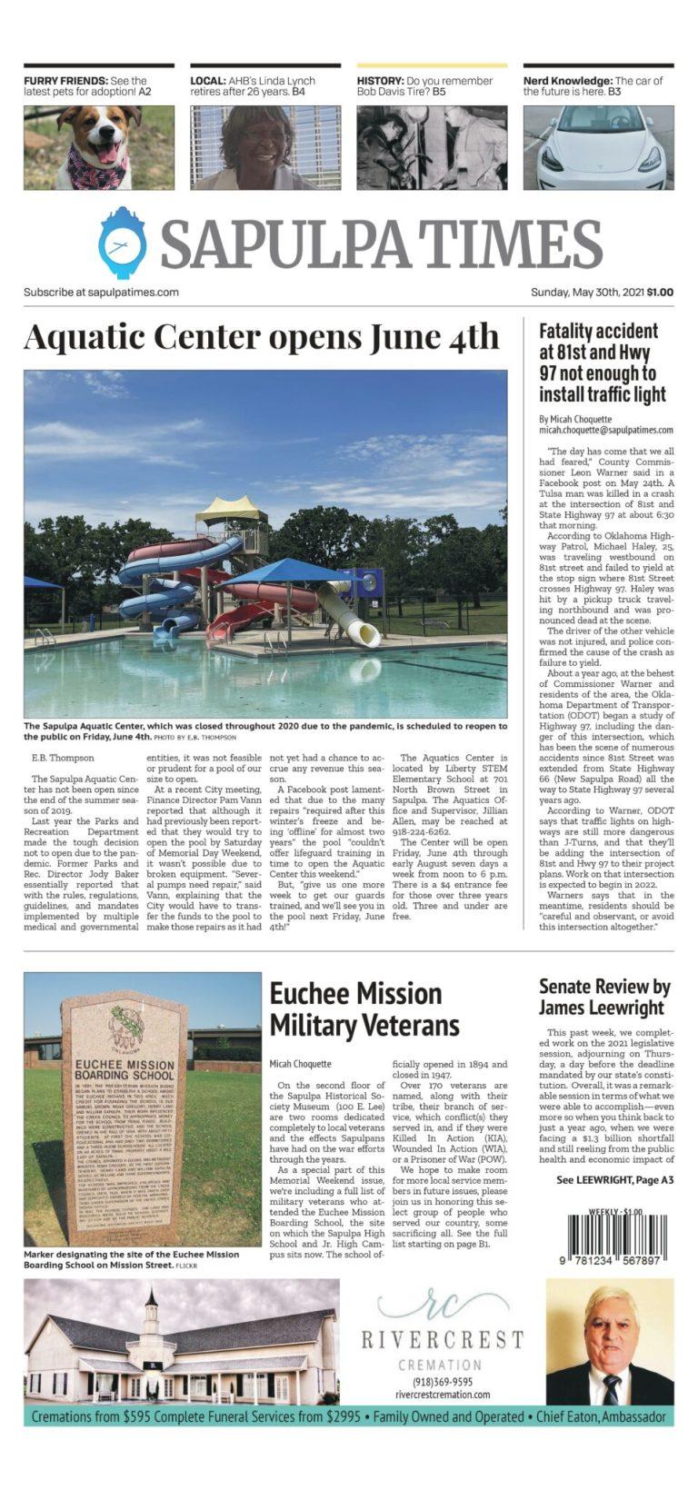 Sapulpa Times Digital Edition 05/30/2021