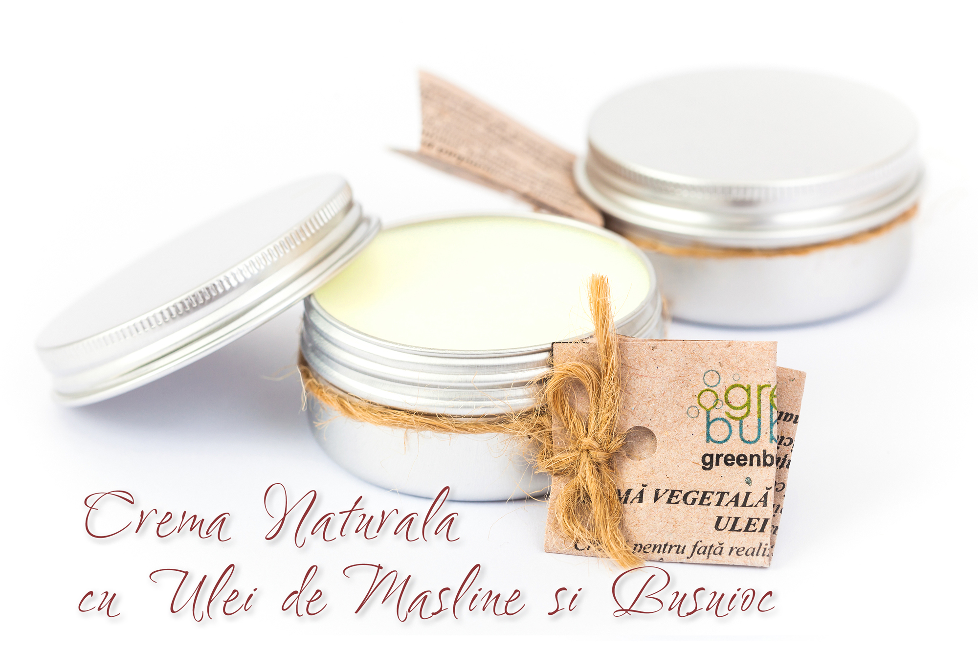 Crema Naturala cu Ulei de Masline si Busuioc