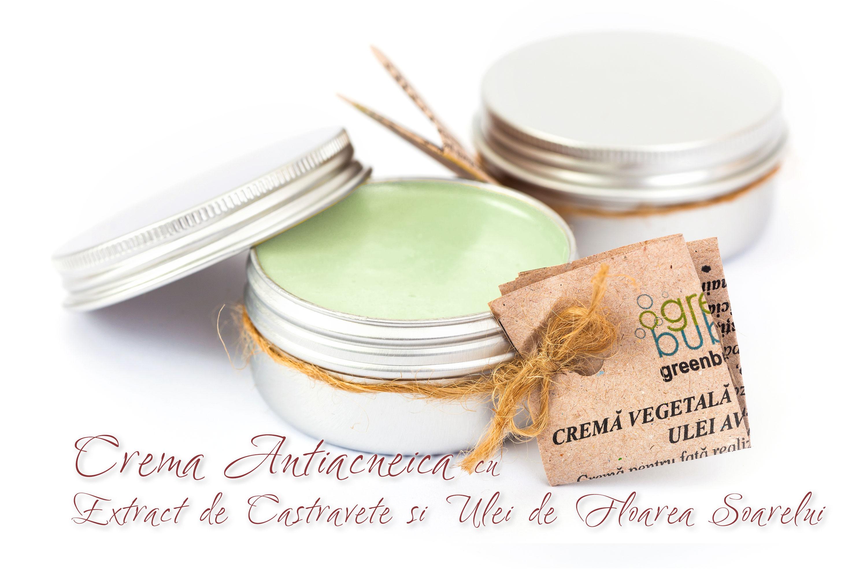 Crema Naturala Antiacneica cu Extract de Castravete si Ulei de Floarea Soarelui