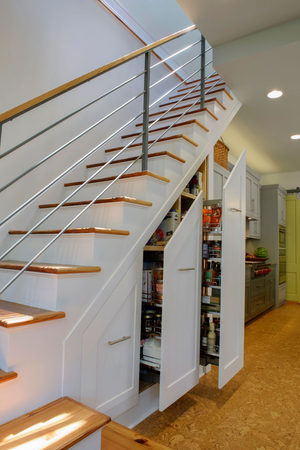 breathtaking-storage-under-stairs-with-wooden-white-staircase-and-brown-runner-stairs-also-storage-with-clothes-decorations-images-under-stair-storage-970x1453
