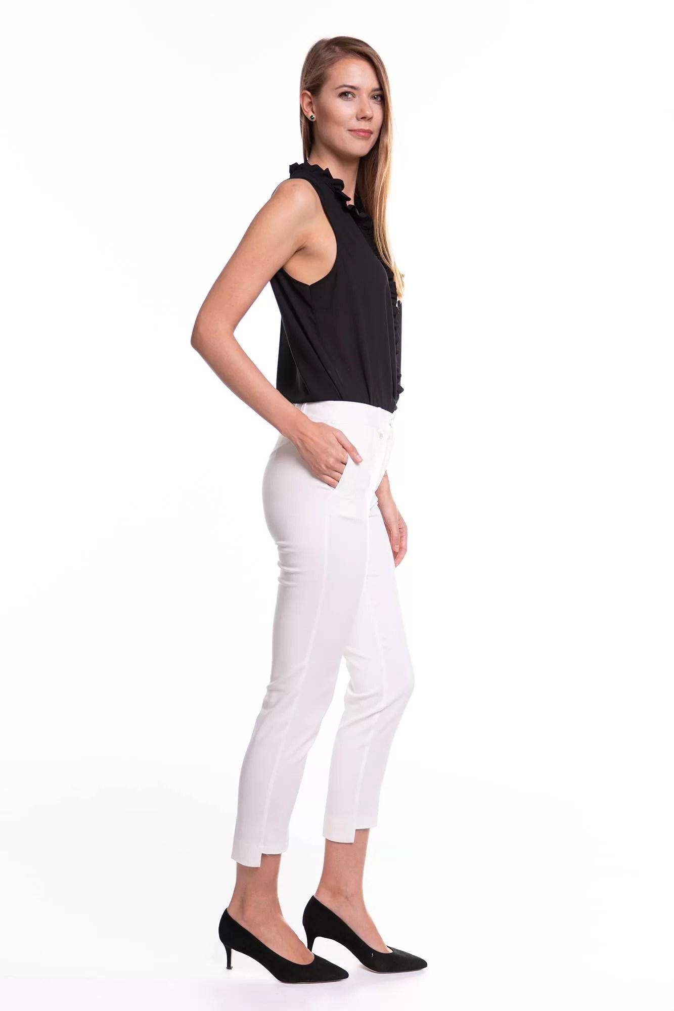 Spodnie Rozenki Białe