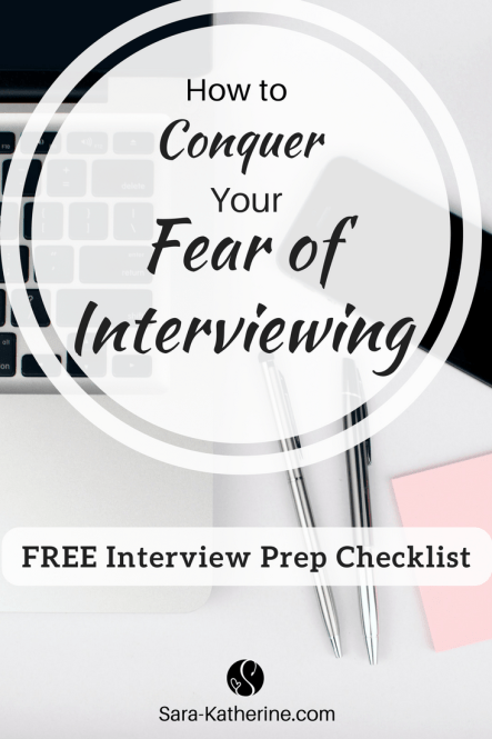 How to conquer your fear of interviewing, beat the nerves and anxiety, and ace your interview! Plus, snag a free job interview prep checklist!