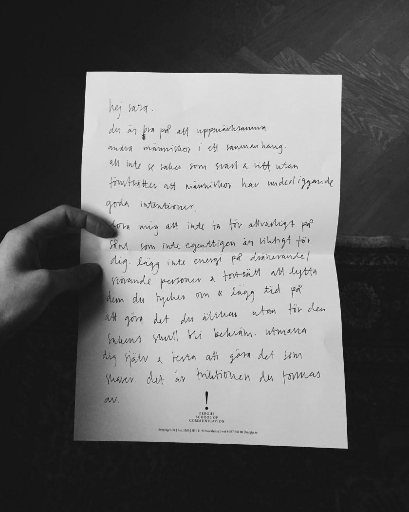 ett brev till mig själv