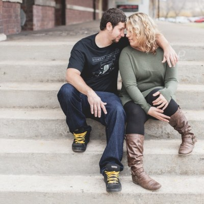 Downtown Rockford, Illinois fall engagement photography | Sara Anne Johnson