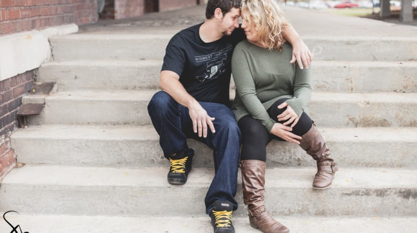 Downtown Rockford, Illinois fall engagement photography   Sara Anne Johnson