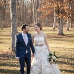 Kilbuck Creek fall wedding with pink undertones photographed in natural light by Sara Johnson Photography