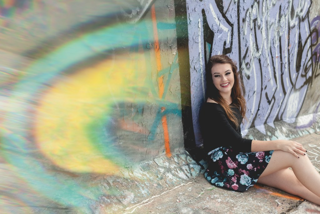 Byron High School urban senior portrait session photographed downtown Rockford, Illinois by Sara Anne Johnson