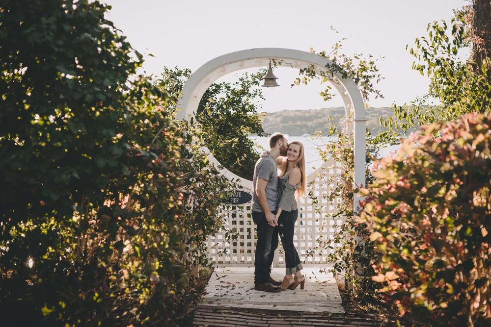 Romantic Lake Geneva, Wisconsin engagement session by the lake.