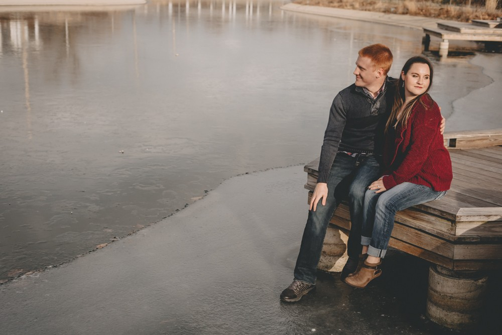 Winter Rockford engagement session at Nicholas Conservatory Gardens Sinnissippi Park by Sara Anne Johnson