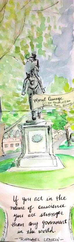 Civil War Monument, Brookline Public Library