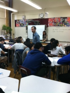 Teaching a high school class at Brooklyn Technical Institute about climate change, research, and getting involved in science.