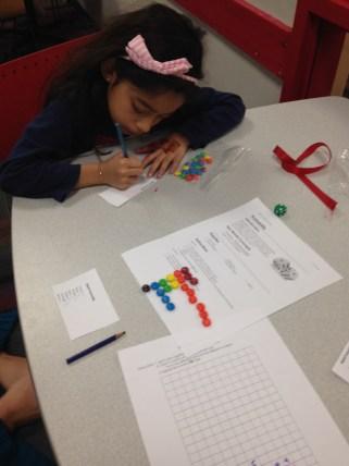 Girls Science Club Probability activity.