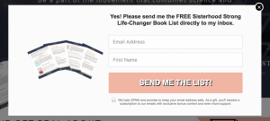 Lead generation popup.