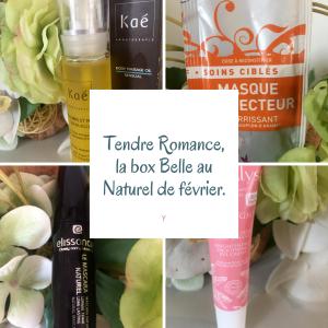 Tendre Romance, la box Belle au Naturel de février.