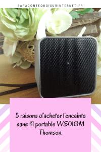 5 raisons d'acheter l'enceinte sans fil portable WS01GM Thomson.