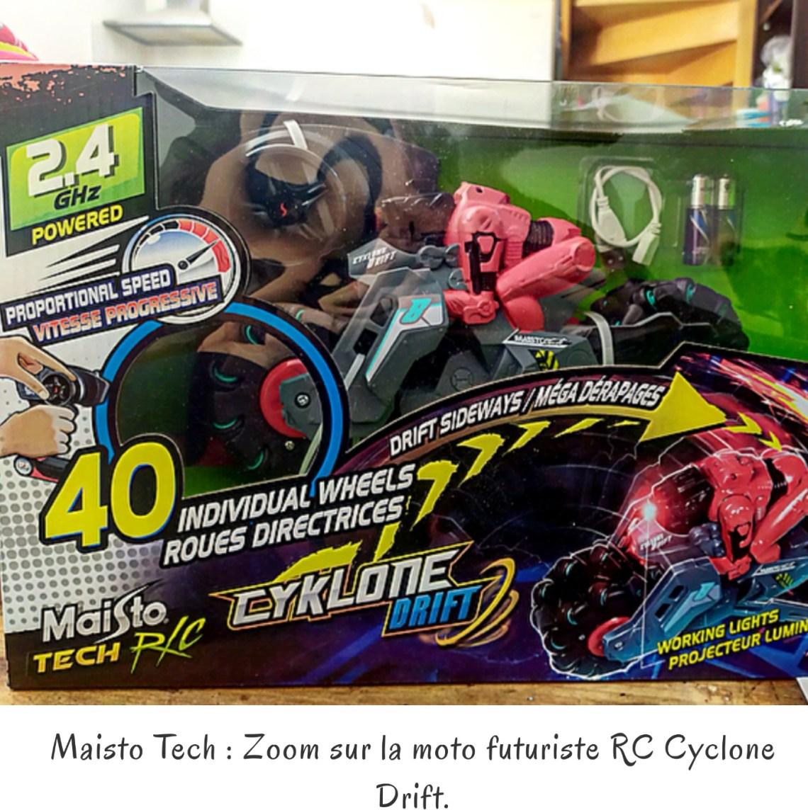 Maisto Tech : Zoom sur la moto futuriste RC Cyclone Drift.