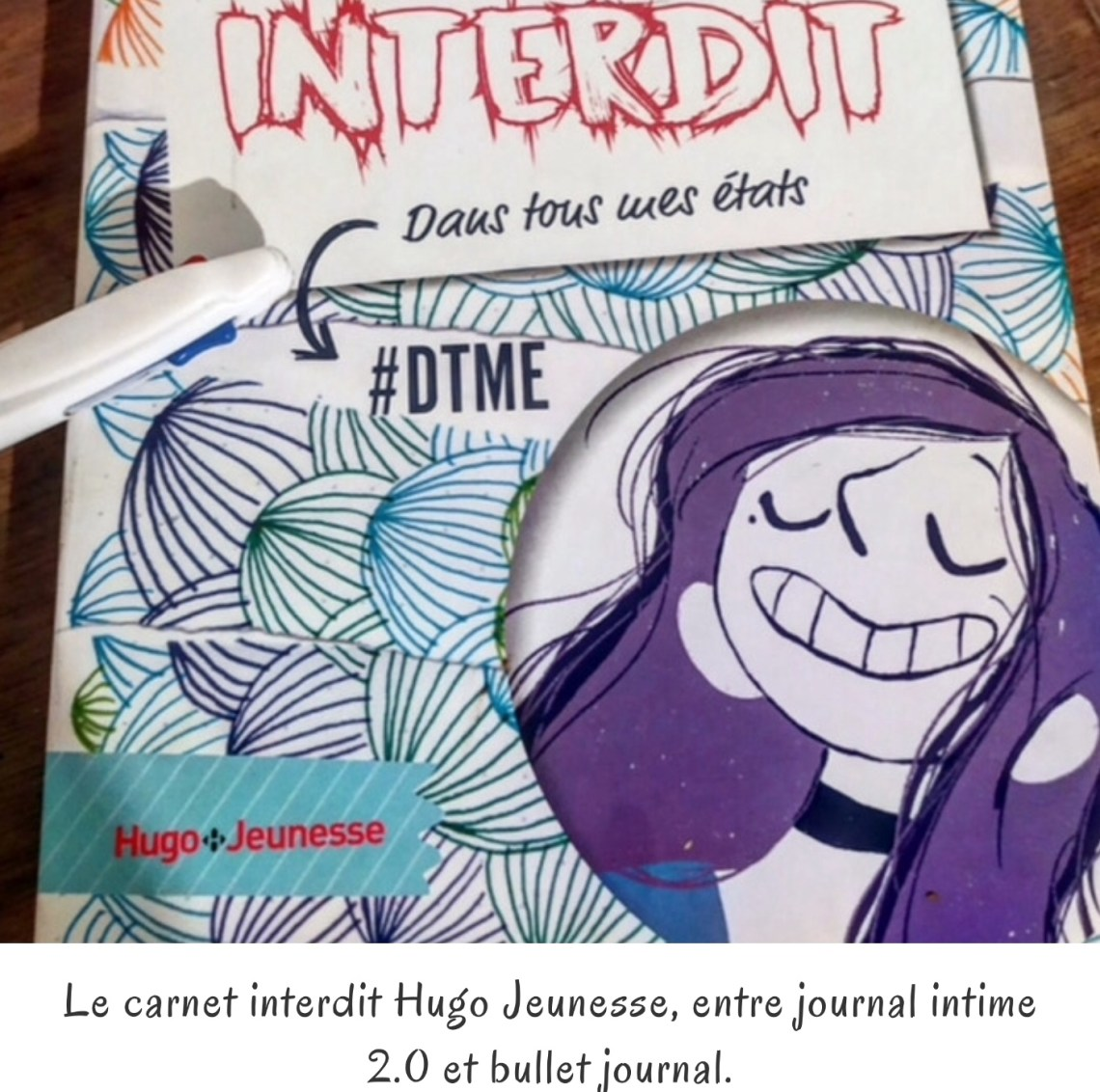 Le carnet interdit Hugo Jeunesse, entre journal intime 2.0 et bullet journal.