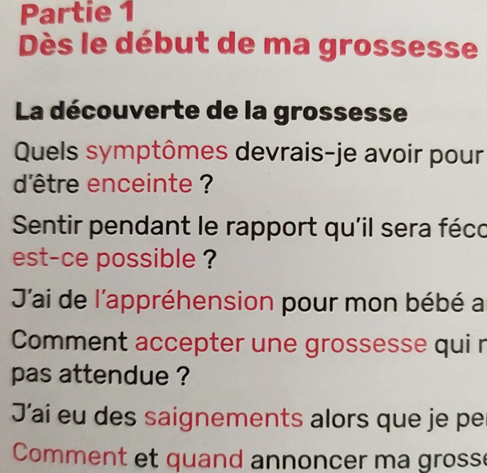 «Est-ce normal si», pour répondre à ses questions sur la grossesse.