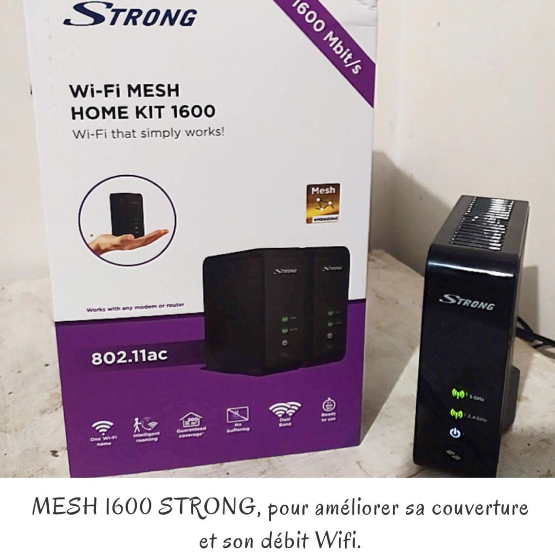 MESH 1600 STRONG, pour améliorer sa couverture et son débit Wifi.